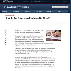 Should Performance Reviews Be Fired?