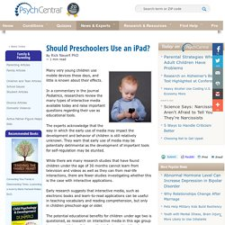 Should Preschoolers Use an iPad?