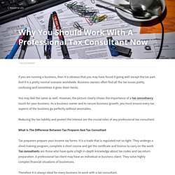 Why You Should Work With A Professional Tax Consultant Now - Tax Consultant