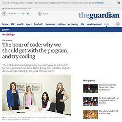 The hour of code: why we should get with the program… and try coding