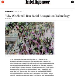 Why We Should Ban Facial Recognition Technology