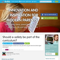 Should e-safety be part of the curriculum?