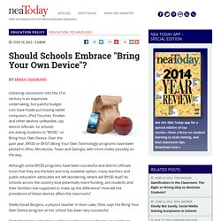 "Should Schools Embrace ""Bring Your Own Device""? - NEA Today"