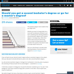 Should you get a second bachelor's degree or go for a master's degree?