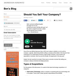 Should You Sell Your Company?