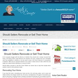 Should Sellers Renovate or Sell Their Home