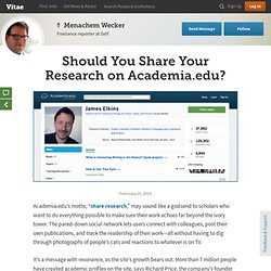 Should You Share Your Research on Academia.edu?