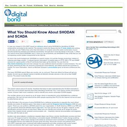 What You Should Know About SHODAN and SCADA « Digital Bond's SCADA Security Portal