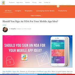 Should You Sign An NDA For Your Mobile App Idea?