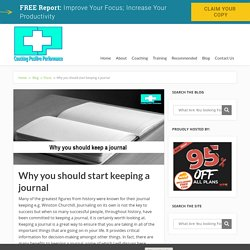 Why you should start keeping a journal