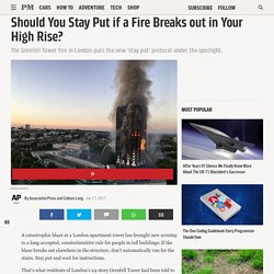 Should You Stay Put if a Fire Breaks out in Your High Rise?