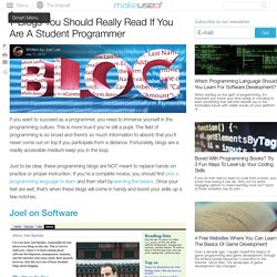 7 Blogs You Should Really Read If You Are A Student Programmer