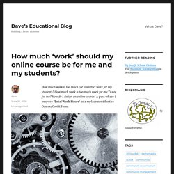 How much 'work' should my online course be for me and my students? – Dave's Educational Blog