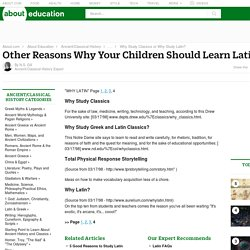 Why Your Kids Should Study Latin - Other Related Sites