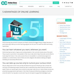 Why Should You Take Up Online Learning