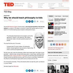 Why we should teach philosophy to kids