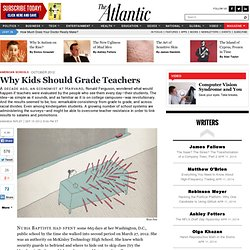 Why Kids Should Grade Teachers - Amanda Ripley
