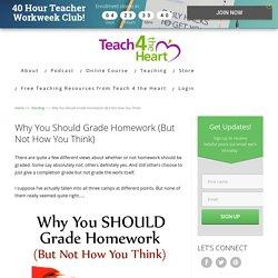Should Teachers Grade Homework?