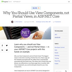 Why You Should Use View Components in ASP.NET Core
