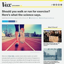 Should you walk or run for exercise? Here's what the science says.