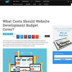 What Costs Should Website Development Budget Cover?