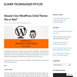 Should I Use WordPress Child Theme: Yes or Not?