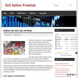 Should you buy Call Options
