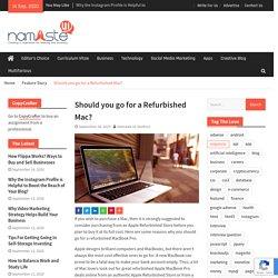 Should you go for a Refurbished Mac?