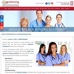 Should You Be A Nursing Assistant?