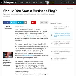 Should You Start a Business Blog?