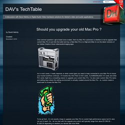 Should you upgrade your old Mac Pro ? « DAV's TechTable