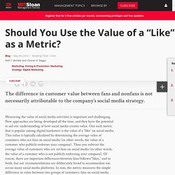 "Should You Use the Value of a ""Like"" as a Metric?"
