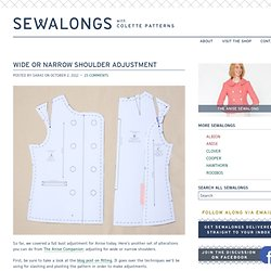 Anise Sew-along: Wide or Narrow Shoulder Adjustment