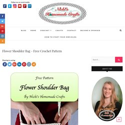 Flower Shoulder Bag - Free Crochet Pattern - Nicki's Homemade Crafts