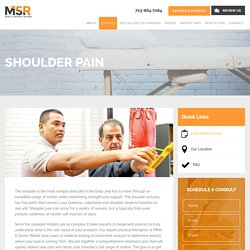 Shoulder Pain Treatment in Arlington VA