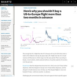 Here's why you shouldn't buy a US-to-Europe flight more than two months in advance - Quartz