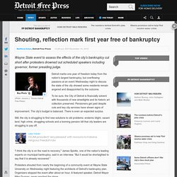 Shouting, reflection mark first year free of bankruptcy