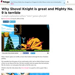Why Shovel Knight is great and Mighty No. 9 is terrible