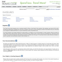 Show of the Month Travel Club Guidelines