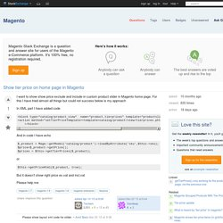 Show tier price on home page in Magento