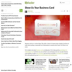 Show Us Your Business Card