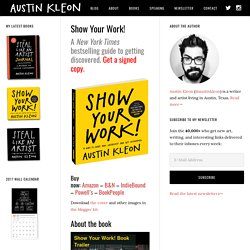 Show Your Work! a book by Austin Kleon