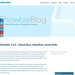 Showbie 1.5.3 — Cloud Docs, VoiceOver, Loose Ends.