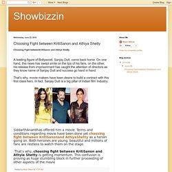 Showbizzin: Choosing Fight between KritiSanon and Athiya Shetty