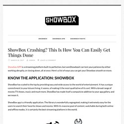 ShowBox Crashing? This Is How You Can Easily Get Things Done