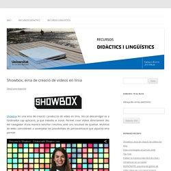 Showbox, eina de creació de vídeos en línia