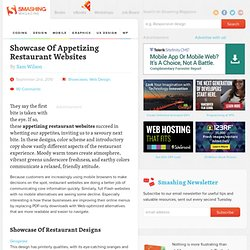 Showcase Of Appetizing Restaurant Websites - Smashing Magazine