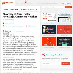 Showcase of Beautiful (or Creative) E-Commerce Websites - Smashing Magazine