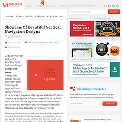 Showcase Of Beautiful Vertical Navigation Designs - Smashing Magazine