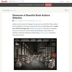 Showcase of Beautiful Book Authors Websites